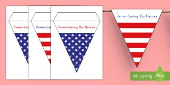 Memorial Day Display Bunting - Memorial Day, Memorial Day bunting, veterans, parade