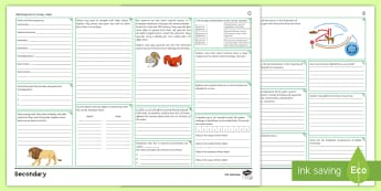 AQA Trilogy Biology Unit 4.7: Ecology Higher Revision Activity Mat Pack - adaptation, interdependence, competition, ecology, ecosystem, carbon cycle, biodiversity, deforestat