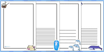 Under the Sea Writing Frames - writing templates, writing aid