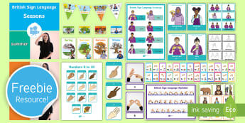 Free British Sign Language (BSL) Taster Resource Pack - free resources, free bsl resource, free bsl, free british sign language, learn bsl for free, deaf ed