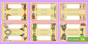 Traditional Tales Group Table Signs and Labels - Editable Class Group Table Signs  - group signs, group labels, group table signs, table sign, teachi