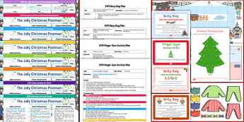 EYFS Bumper Planning and Resource Pack to Support Teaching on the Jolly Christmas Postman - EYFS, early years planning,