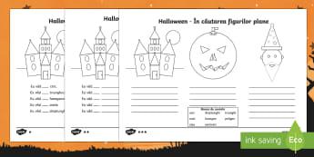 Halloween - Găsește figurile geometrice Fișe de lucru
