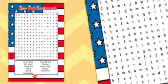 New York Themed Wordsearch - wordsearch, new york, word, search