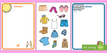 d3d7b7657c27 Winter and Summer Clothes Sorting Activity - winter