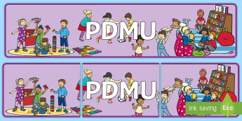 PDMU Display Banner - NI PDMU, PDMU Theme 2, foundation stage, Feelings and Emotions, Begin to recognise how we feel, deve