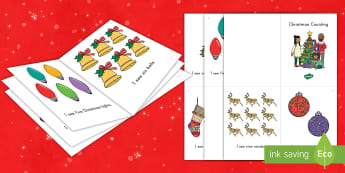 Christmas Counting Emergent Reader - Number Words, Number Recognition, Sight Word, Merry Christmas, Early Readers, Guided Reading, one-to