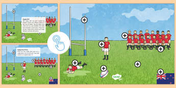 Lions Rugby Tour Picture Hotspots - KS1, Key Stage One, Key Stage 1, Year 1, Year One, Year 2, Year Two, Rugby, Rugby Union, Rugby Tour, Twinkl Go, twinkl go, TwinklGo, twinklgo