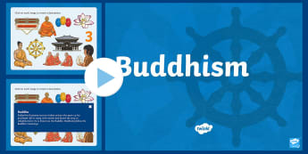 KS2 Inter Faith Week: Buddhism PowerPoint - Buddha, Enlightenment, Lotus, Wesak, Wheel of Life