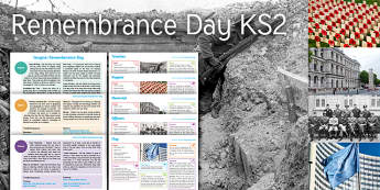 Imagine Remembrance Day KS2 Resource Pack - Trench, Poppy, Memorial, Cenotaph, Officers, Flag, War, Peace, Remembrance, UN