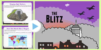 The Blitz PowerPoint - the blitz, powerpoint, war, bombing, blitz