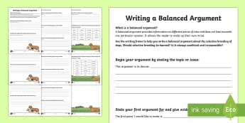 KS2 National Pet Month: Selective Breeding Of Dogs Balanced Argument Writing Frames - KS2 National Pet Month (April 2017), English UKS2, y5, year 5, year five, y6, year 6, year six, writ