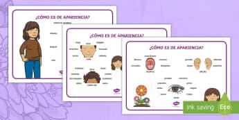 Tapiz de vocabulario: Describiendo a mamá - apariencia física - Día de la madre, mother's day in Spain, descripción, description, describe a mamá, describe your