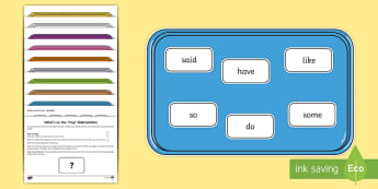 What's on the Tray? Phase 4 Tricky Words Memory Activity Pack - speech language games, EAL games, eal, esl, esl games, memory games, memory, memory game, memory act