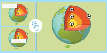 The Structure of the Earth Picture Hotspots - KS3/4 Picture Hotspots, Earth Structure, magma, geography key stage 3, strucutre of the earth.