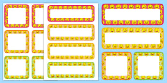 Smiley Face Editable Drawer and Peg Labels - coat pegs, cloakroom, coat hooks, pegs, coat pegs