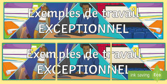 Examples of Outstanding Work Display Pack - motivation, French, KS4, KS3, classroom, organisation,French