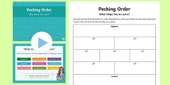 Pecking Order What Helps You Learn?  PowerPoint Pack - Pecking Order, Diamond 9, What Helps You Learn, Listening and Talking, second level, cfe, 2nd level,