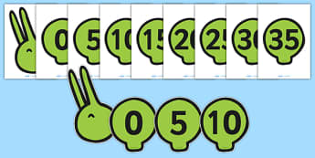 Counting in 5s Caterpillar - Counting, Numberline, Number line, Counting on, Counting back, even numbers, foundation stage numeracy, counting in 5s