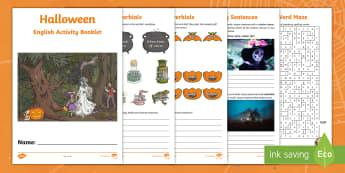 Year 5 Halloween English Activity Booklet - holiday booklet, homework booklet, y5, spag, writing activity, reading activity,