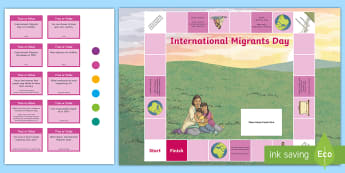 International Migrants Day Board Game - unicef, UN, rrsa, rights, immigration, refugee,Scottish