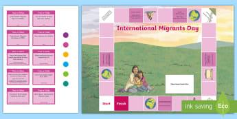 International Migrants Day Board Game - unicef, UN, rrsa, rights, immigration, refugee,Scottish