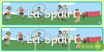 Meirge Taispeána, Lá Spóirt - Sports Day Display Banner, meirge taispeána, lá spóirt,spórt, sports,corpoideachas, pe, sport, h