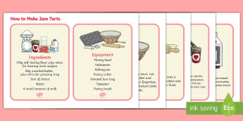 How to Make Jam Tarts - How to make jam tarts, EYFS, KS1, recipe, baking, Queen of Hearts, nursery rhymes,