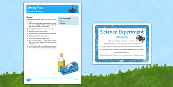 Sticky Web Science Experiment - EYFS, Spider, minibeast, sticky web, science experiment