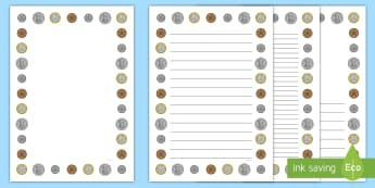 New British (UK) Coins Page Borders - money, currency, border