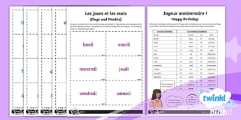 French:Time Year 3 Home Learning Tasks