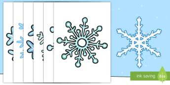 Copos de nieve de exposición - decoracion, mural, invierno, frio, nieve, decorar, Spanish