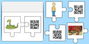 Phase 5 Jigsaw Code Hunter - QR Codes, Code Hunters, EYFS, KS1, Year 1, Year 2, Reception, Phonics, English, Reading, Decoding, L