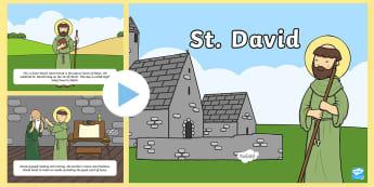 St David Story PowerPoint - st davids day, saint david, st david powerpoint, st davids day assembly, st david story, dydd gwyl dewi, dewi sant