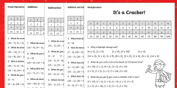 KS1 Christmas Jokes Maths Activity Sheet Pack