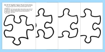 We All Fit Together Class Portrait Jigsaw Puzzle - jigsaw, puzzle