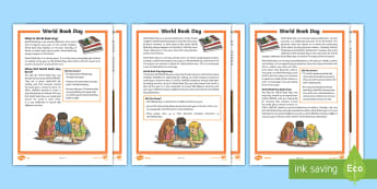 LKS2 World Book Day Differentiated Reading Comprehension Activity - vocabulary, inference, content domains, understanding, skim and scan, find and  retrieve, SATs style