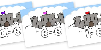 Modifying E Letters on Castles - Modifying E, letters, modify, Phase 5, Phase five, alternative spellings for phonemes, DfES letters and Sounds
