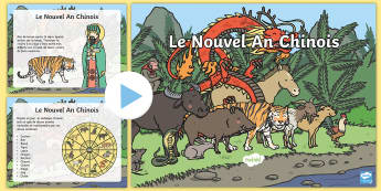 Chinese New Year Story PowerPoint - festivities, celebration, events, France, World, festival, Chinese
