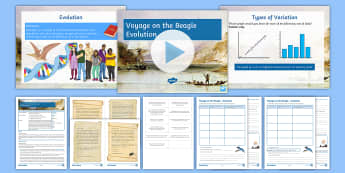 Science Week: Voyage on the Beagle Lesson 2 (Combined Science) - Evolution  - evolution, speciation, Darwin, natural selection, survival of the fittest