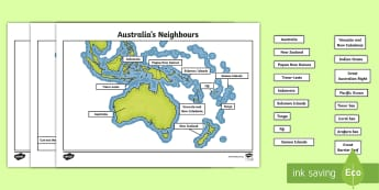 Map Of Australia And Neighbouring Countries.The Location Of Australia S Neighbouring Countries And The Diverse