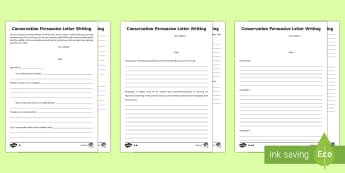 Conservation Persuasive Letter  Writing Frames - KS2  Big Birdwatch (3 Jan-17 Feb 2017), RSPB, school, bird, bird watch, persuasive writing.