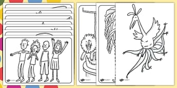 Colouring Pages to Support Teaching on The Enormous Crocodile - the enormous crocodile colouring pages, the enormous crocodile, colouring pages, roald dahl colouring in