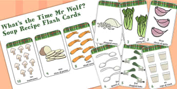 Number Flash Cards to Support Teaching on What's The Time, Mr Wolf? - mr wolf, time, cards