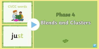 Phase 4 Blends and Clusters Quick Read PowerPoint - Phase 4 Quick Read Powerpoint blends, clusters, phase four, phases, literacy, phase4, leters, Letter