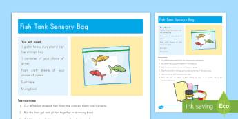 Fish Tank Sensory Bag - pets, class pets, family pets, goldfish, fish tank, sensory bag, pets sensory bag, fish tank sensory