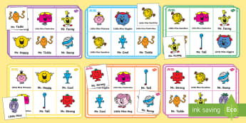 Mr. Men and Little Miss Bingo - Roger Hargreaves, Mr. Strong, Little Miss Sunshine, Mr. Bump, Little Miss Chatterbox, Mr. Tickle, Mr
