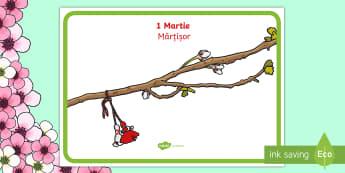 Mărțișor Planșă - 1 martie, mărțișor, martisor, primăvară, șnur, alb roșu,martie, tradiție, Romanian