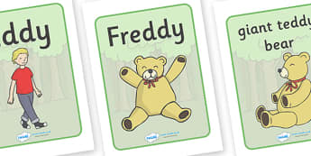 Where's My Teddy Display Posters - Where's My Teddy, teddy, woods, forest, lost, bear, display, banner, poster, sign, reading, story, book