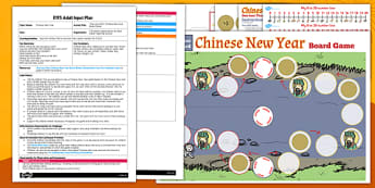 One Less Than Chinese New Year Board Game EYFS Adult Input Plan and Resource Pack